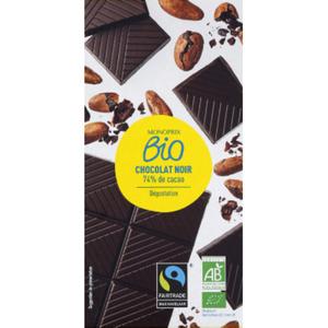 Monoprix Bio Chocolat Noir Dégustation 74% Cacao, Bio 100g