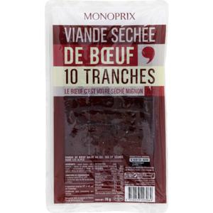 Monoprix Viande Séchée de Boeuf 70g