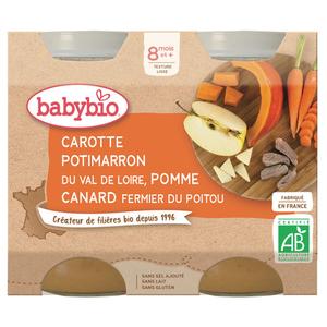 Babybio Carotte Potimarron Pomme Canard fermier du Poitou 400g