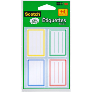 Etiquettes Scotch® Ecoliers cadre - sachet de 28 +4 - 36 x 54 mm