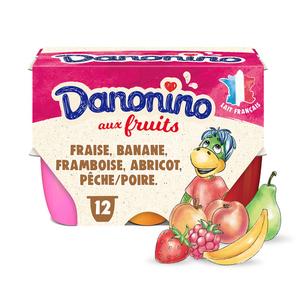 Danonino petits suisses aux fruits le pack de 12x50g