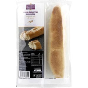 Monoprix Gourmet Demi-baguettes précuites  2x125g