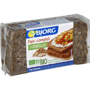 BJOR Pain complet 3 cereales 500g