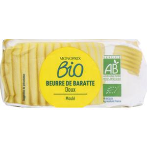 Monoprix Bio beurre moule doux 250g