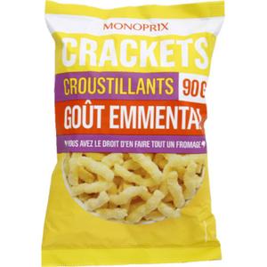 Monoprix Crackets croustillants goût emmental 90g