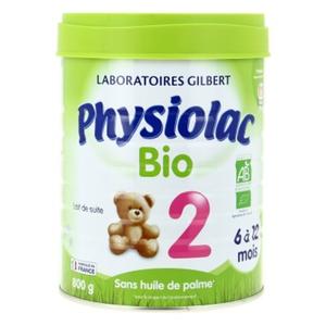 Physiolac Lait 2Ème Âge 800G Bio