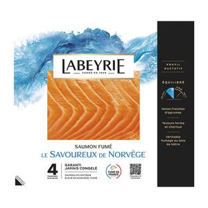 Labeyrie Saumon Atlantique De Norvege Fume x4 Tranches 140G