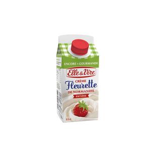 Elle&Vire Crème fleurette de Normandie entière 33cl