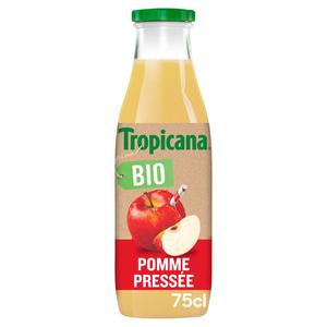 Tropicana Bio jus de pommes pressées bio 75cl.
