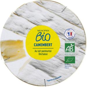Monoprix Bio camembert au lait pasteurisé 250g