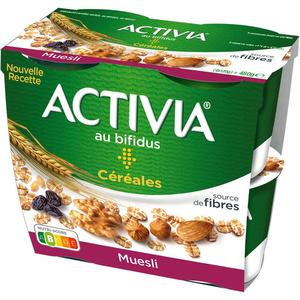 Activia yaourt bifidus céréales le pack de 4x120g