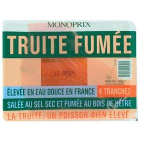 Monoprix Truite Fumée 4 tranches 120g