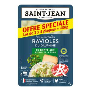 Ravioles du dauphiné lr barquette 240g saint jean lot de 2.