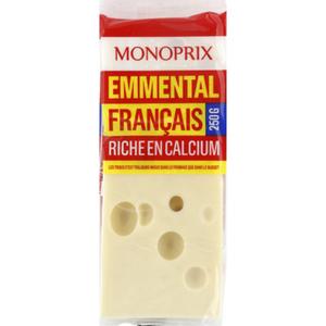 Monoprix Emmental français riche en calcium 250g