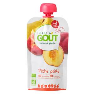 Good Goût Compote Bio Pêche Poire Dès 4 Mois 120g.