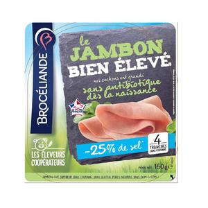 Brocéliande Le jambon Bien Elevé -25% de sel 160g