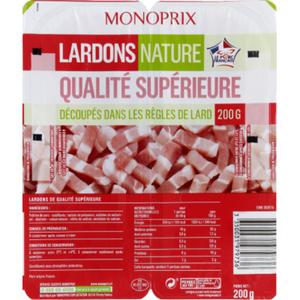 Monoprix Lardons Nature Qualité Supérieure 200g