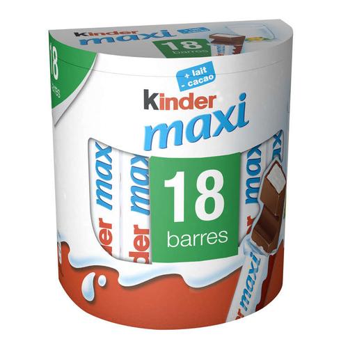 Kinder Maxi chocolat pack de 18 barres 378g