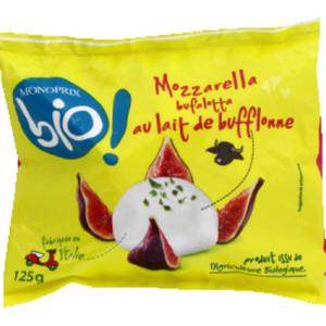 Monoprix Bio Mozzarella di Bufala Campana AOP 125g