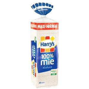 Harrys Pain 100 % Mie nature sans croùte maxi 650g