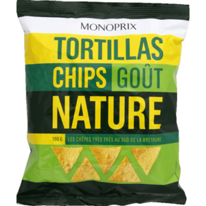 Monoprix Tortillas chips goût nature 100g