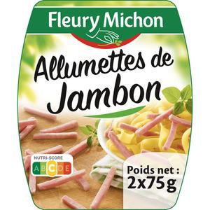 Fleury Michon Allumettes de jambon cuit 2x75g