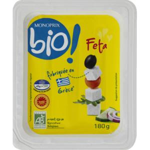Monoprix Bio fromage feta AOP bio 180g