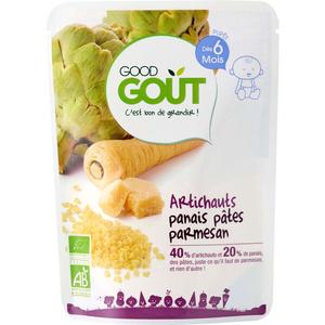 Good Goût Plat Complet Artichauts Panais Pâtes Parmesan Dès 6 Mois 190g