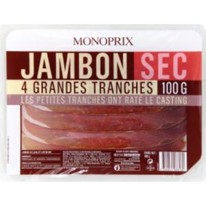 Monoprix Jambon sec 4 tranches 100g