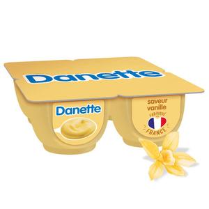 Danette crème dessert vanille le pack de 4x125g