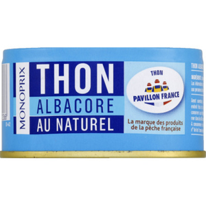 Monoprix Thon Albacore Au Naturel 140g