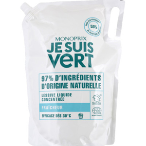 Monoprix Je Suis Vert lessive liquide fraîcheur 1,98 litres