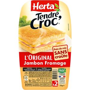 Herta Tendre Croc' Croque-Monsieur L'original Sans Croute 210g