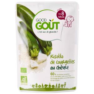 Good Goût Risotto de Courgettes au Chèvre Bio Dès 8 Mois 190g.