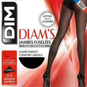 Collant Jambes Fuselées, Noir, 25D, Diam'S - Dim