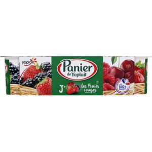 Yoplait Panier yaourt fruits rouges 8x130g