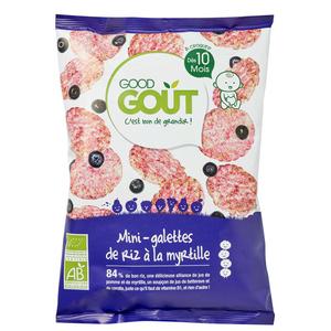 Good Goût Mini Galettes De Riz À La Myrtille 10M 40G Bio