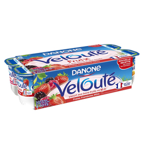 Danone velouté yaourt aux fruits rouges le pack de 8x125g