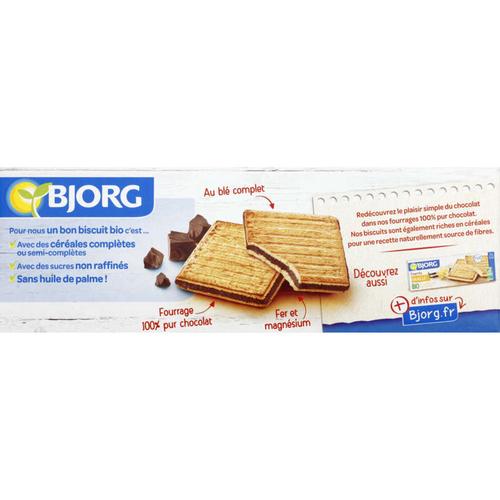 Bjorg Biscuits Fourrés Au Chocolat Noir Bio 225g