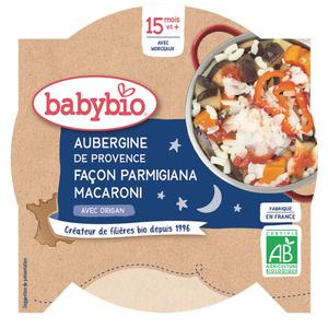 Babybio Assiette Aubergine et Macaroni Bio dès 15 mois 260g
