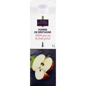 Monoprix Gourmet Pomme de Bretagne 100% pur jus de fruit pressé 1L.