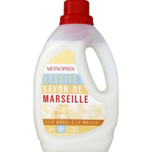 Monoprix lessive liquide savon de marseille 1.5L