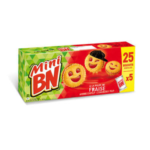 Mini BN Biscuits fourrés à la pulpe de fraise 175g