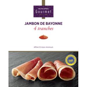 Monoprix Gourmet Jambon de Bayonne affiné 12 mois minimum 80 g.