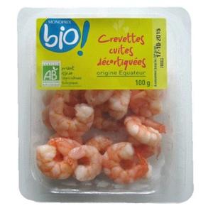 Monoprix Bio Crevettes cuites décortiquées 100g