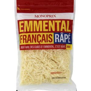 Monoprix Emmental français râpé 200g