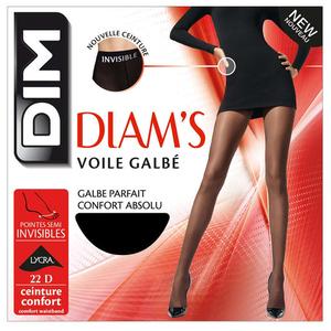 Collant Voile Galbé, Noir, 22D, Diam'S - Dim