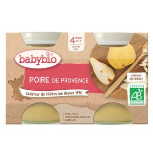 Babybio Petits Pots Poire de Provence Dès 4 Mois 2x130g