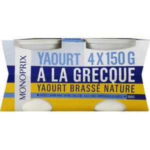 Monoprix Yaourt à la grecque 4x150g