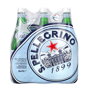 San Pellegrino eau minérale gazeuse pack de 6x1L